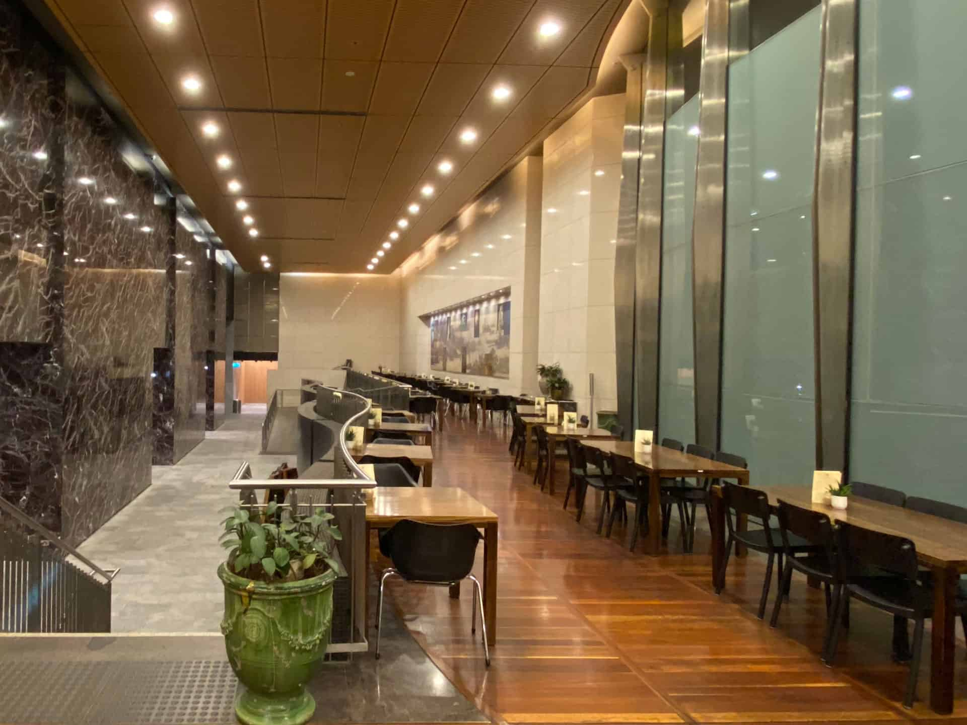 Large captivating foyer at Bar Cupola Cafe Restaurant Angel Place Sydney Bar Cupola Cafe Restaurant Angel Place Sydney