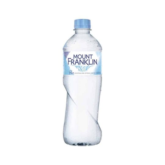 Australian Bottled Water 600ml served at Bar Cupola cafe located in Sydney CBD