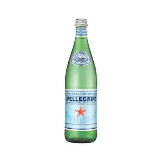 Split Rock sparkling 1L water served at Bar Cupola cafe located in Sydney CBD
